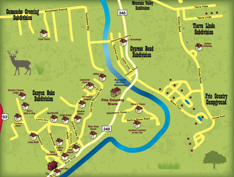 Frio River Texas Map Pictures To Pin On Pinterest Pinsdaddy
