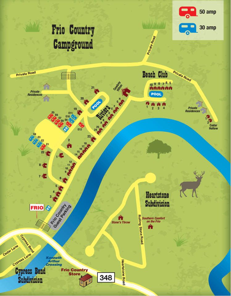 Campgrounds on the Frio River